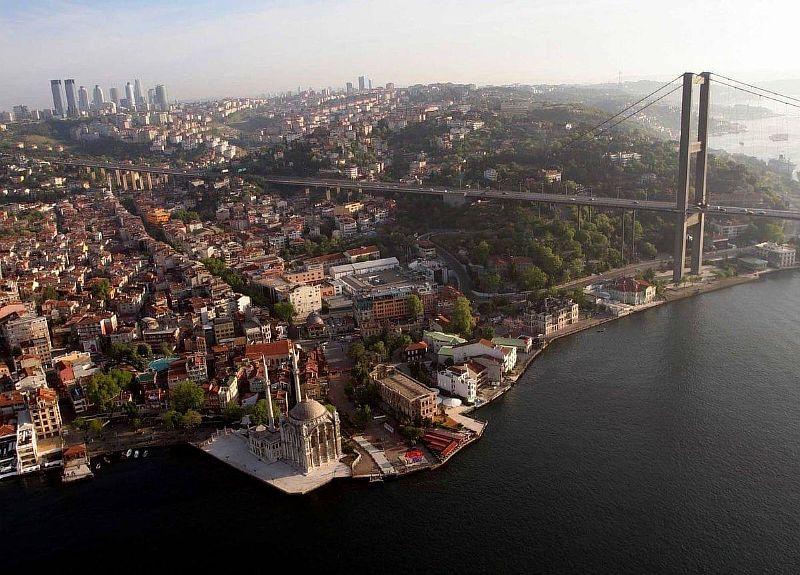 Стамбул Мечеть Ортакёй с высоты птичьего полёта