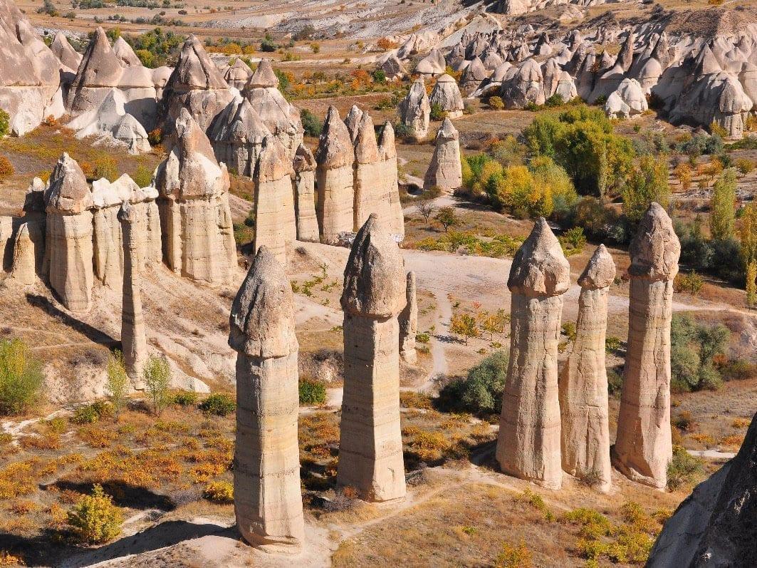Туфовые столбы грибы Каппадокия