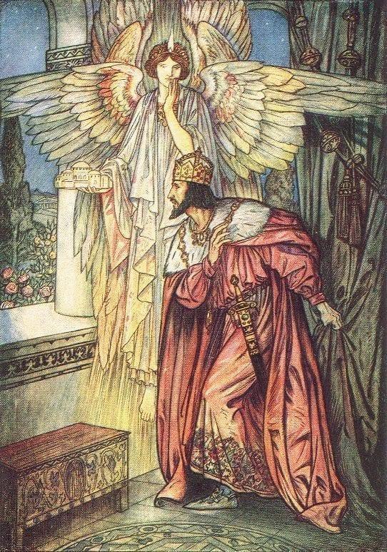 Ангел показывает Императору Юстиниану модель Собора