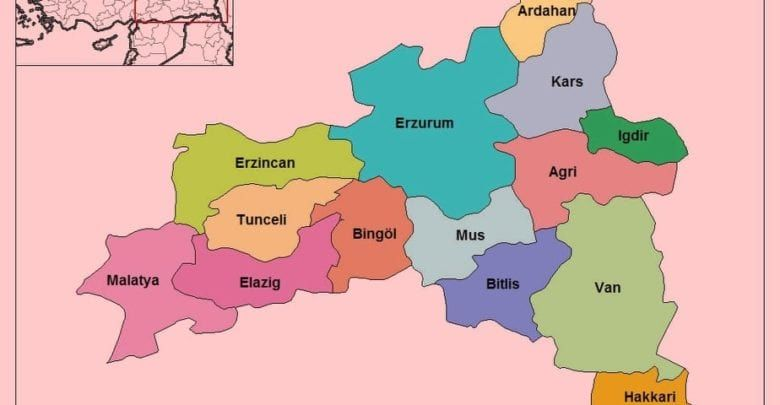 Восточно-Анатолийский регион Турции (Doğu Anadolu Bölgesi)