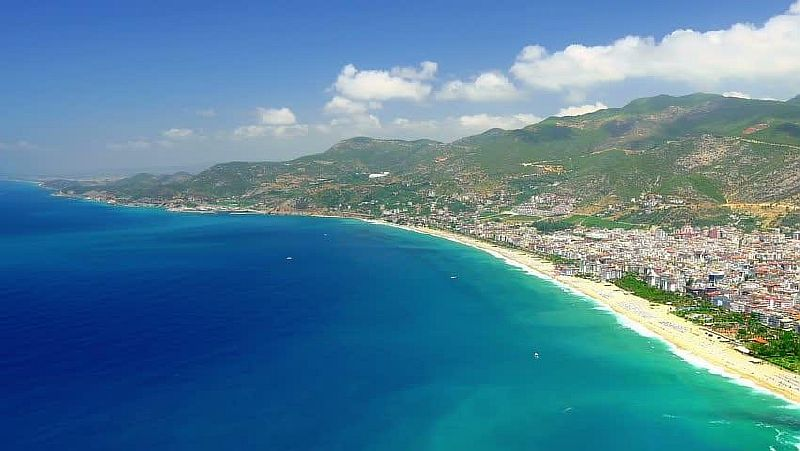 Пляж Клеопатра город Алания провинции Анталия Средиземноморского региона Турции