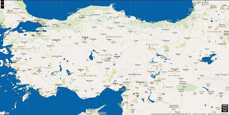 Турция на карте ЮНЕСКО