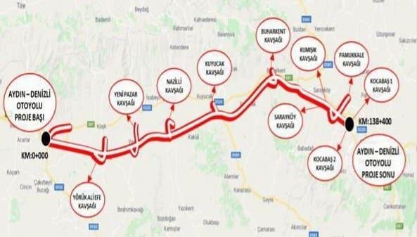 Дорога Турции Айдын - Денизли
