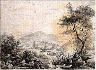 Руины Трои рисунок 1835 года