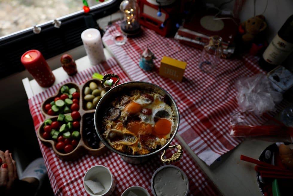 Еда в Восточном Экспрессе в Турции