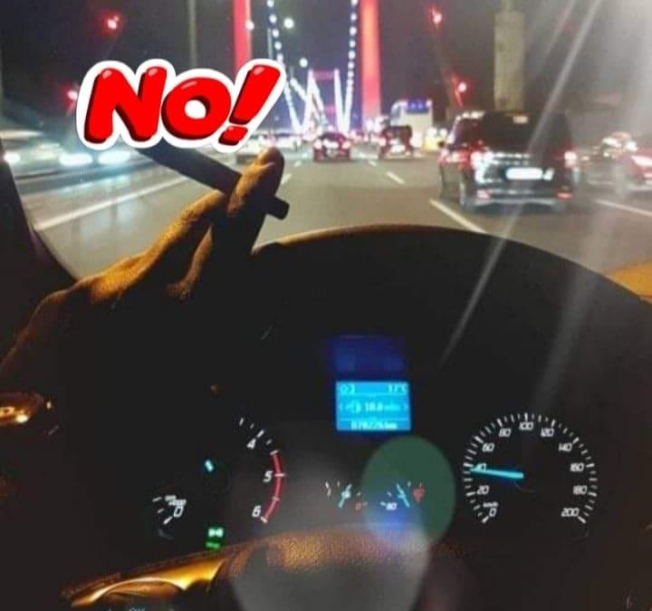 В автомобиле курение запрещено